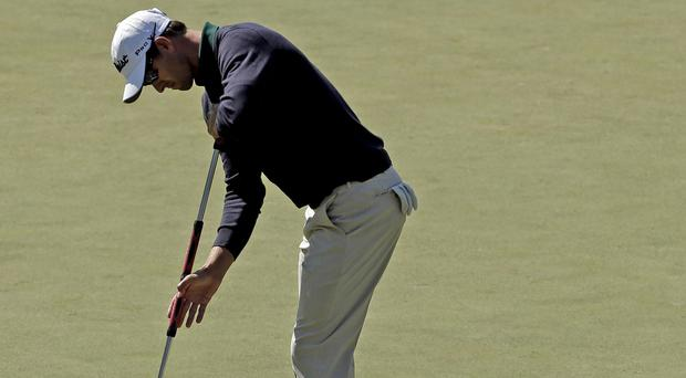 Adam Scott birdied the opening hole at Augusta (AP)