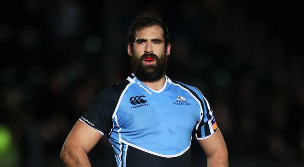 Josh Strauss went over for one of Glasgow's tries
