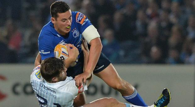 Noel Reid, pictured top, scored two tries as Leinster thrashed Benetton Treviso