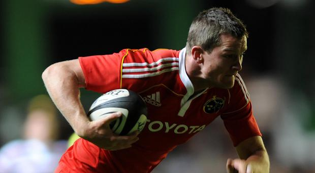 Denis Hurley scored one of Munster's four tries at Connacht on Saturday