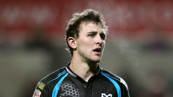 Ashley Beck scored a pair of tries for Ospreys
