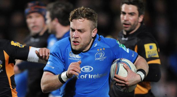 Ian Madigan scored the crucial try for Leinster