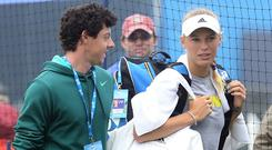 Rory McIlroy, left, and Caroline Wozniacki, right, called off their engagement earlier this week