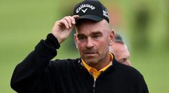 Thomas Bjorn leads the BMW PGA Championship by five strokes