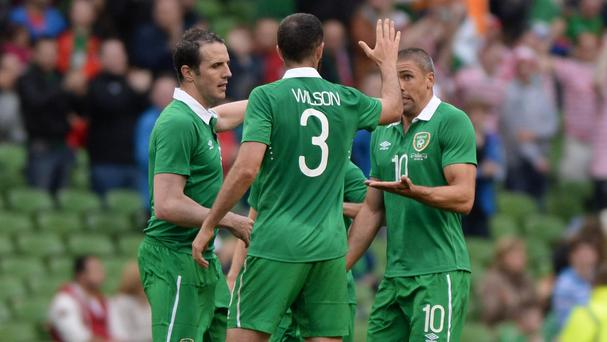 Jon Walters, right, scored a consolation goal for Ireland