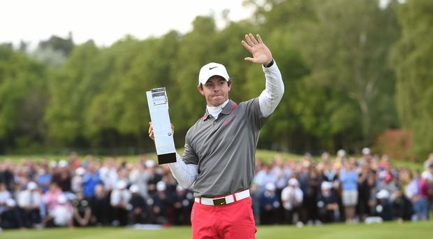 Rory McIlroy, pictured, is up to sixth in the rankings after his win at Wentworth