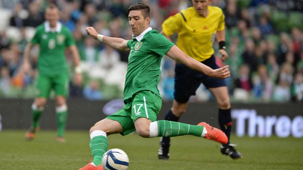 Ireland's Stephen Ward is glad to be back