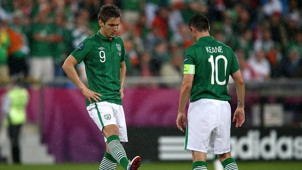 Kevin Doyle, left, admits Robbie Keane's Ireland goalscoring record may never be broken