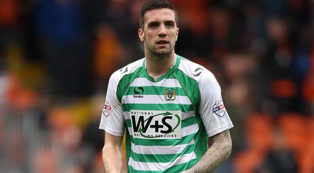 Shane Duffy, who spent last season at Yeovil, made his Ireland debut on Saturday