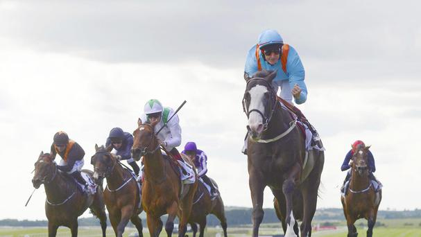 Kool Kompany streaks clear in the Railway Stakes