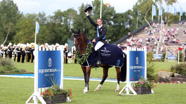 Trevor Breen celebrated Hickstead Derby victory on board Adventure De Kannan