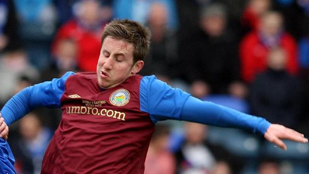 Michael Carvill was on target for Linfield