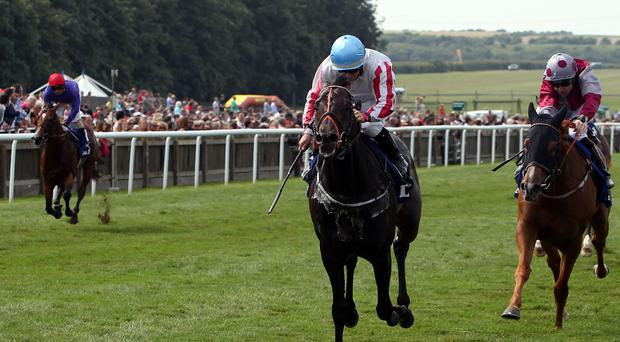 Slade Power ridden by Wayne Lordan wins the Darley July Cup at Newmarket