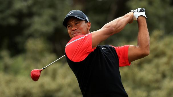 Tiger Woods completed 12 holes in practice on Saturday and a full round on Sunday