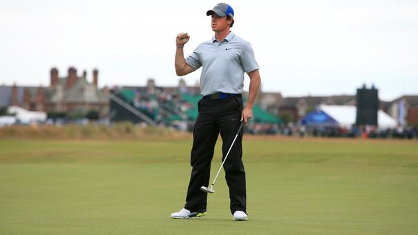 Rory McIlroy is an a commanding position at Hoylake