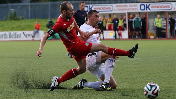 Cliftonville were unable to battle past Debrecen