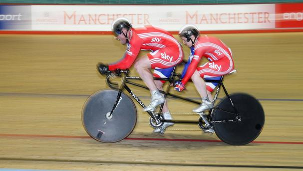 Northern Ireland tandem rider Dave Readle, left, has had a colourful journey to the Commonwealth Games