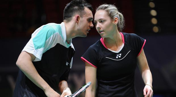 Chris and Gabby Adcock got England off to a winning start in Glasgow