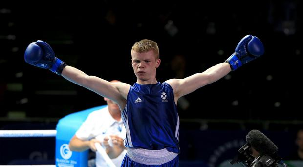 Charlie Flynn, pictured, won a unanimous decision in his gold medal bout against Joe Fitzpatrick