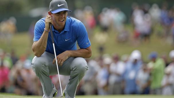 Rory McIlroy had a difficult start to his third round (AP)