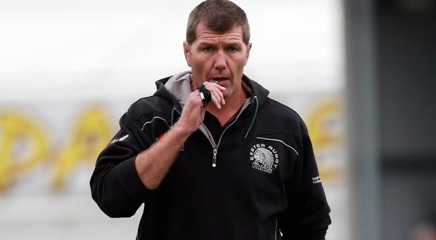 Coach Rob Baxter, pictured, has handed Johnny Sexton's younger brother Jerry a 14-week trial at Exeter
