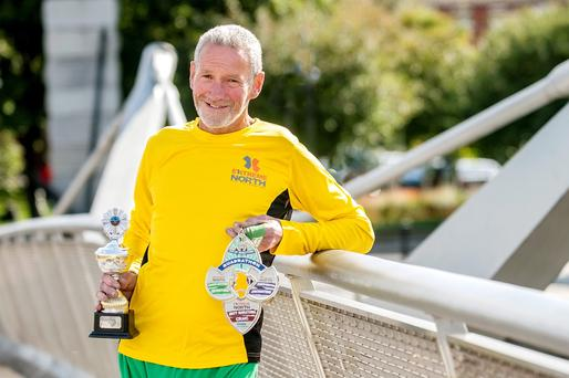 Dave Brady of Raheny Shamrock AC recently completed his 400th marathon