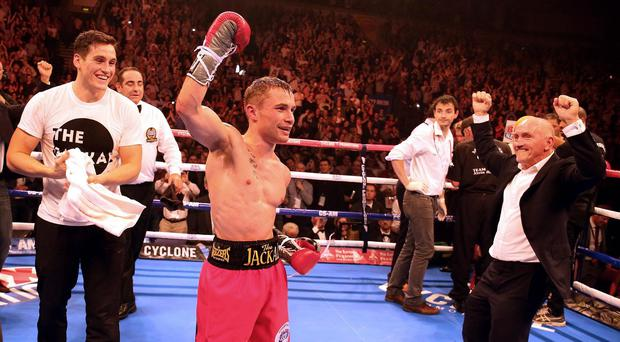 Carl Frampton, pictured, will face IBF champion Kiko Martinez in Belfast this weekend