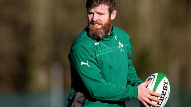 Gordon D'Arcy, pictured, could switch centre berths and fill the number 13 shirt vacated by Brian O'Driscoll