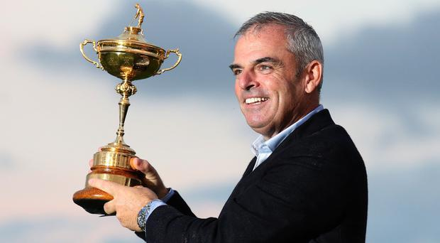 Paul McGinley captained Europe to Ryder Cup glory