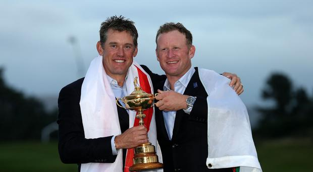 Lee Westwood, left, praised the captaincy of Paul McGinley