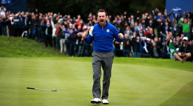 Graeme McDowell claimed a vital win on Sunday