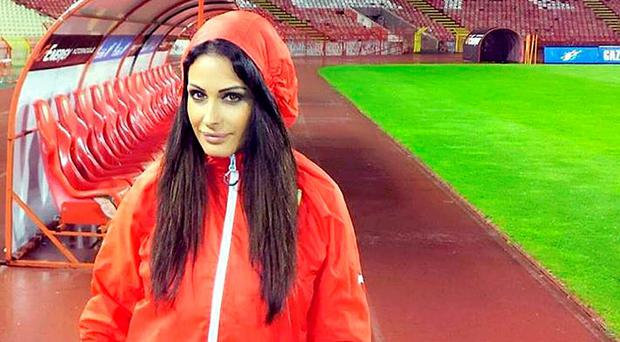 Red Star Belgrade presenter Katarina Sreckovic