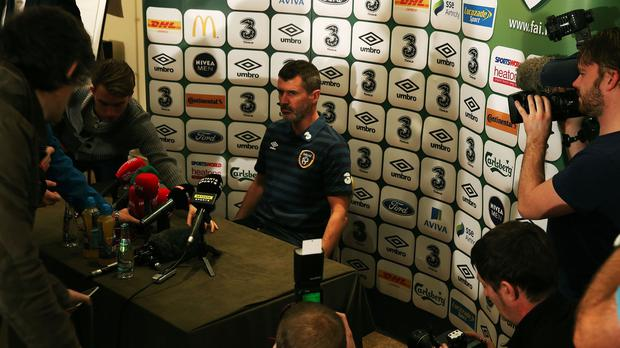 Ireland assistant manager Roy Keane was far from pleased with journalists at the press conference