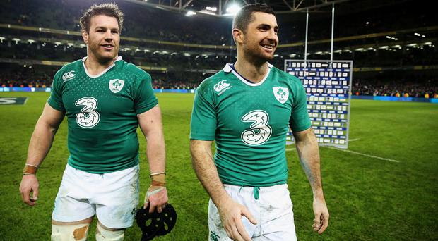 Flanker Sean O'Brien, left, has called on Ireland not to chase revenge against England
