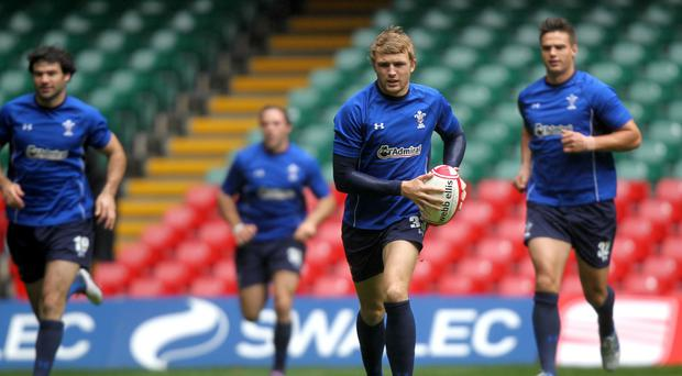 Tom Prydie, centre, was the match-winner for Newport Gwent Dragons