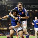 France lock Pascal Pape, right, has been cited for kneeing Ireland's Jamie Heaslip in the back