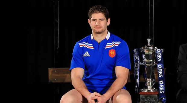 Jamie Heaslip suffered three fractured vertebrae in his back from the challenge that earned Pascal Pape, pictured, a yellow card