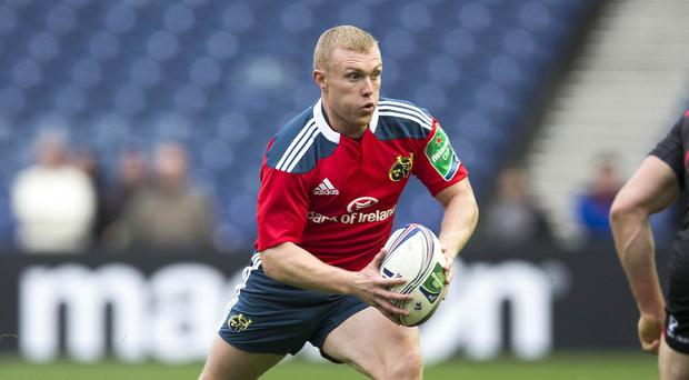 Keith Earls scored a try for Munster