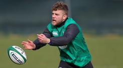 Ian Madigan, pictured, has refused to copy Ireland rival Johnny Sexton, despite admitting the Racing Metro man is the world's best fly-half