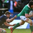 Sean O'Brien scored two tries against Scotland