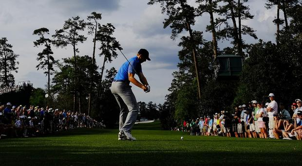 Jordan Spieth leads by three shots following the first round at Augusta (AP)