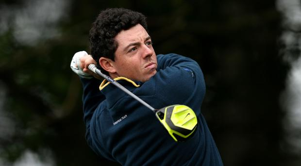 Rory McIlroy came home in 31 at Augusta on Friday