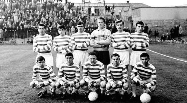 The Shamrock Rovers team who lined out against Limerick in the replay of the 1965 FAI Cup final
