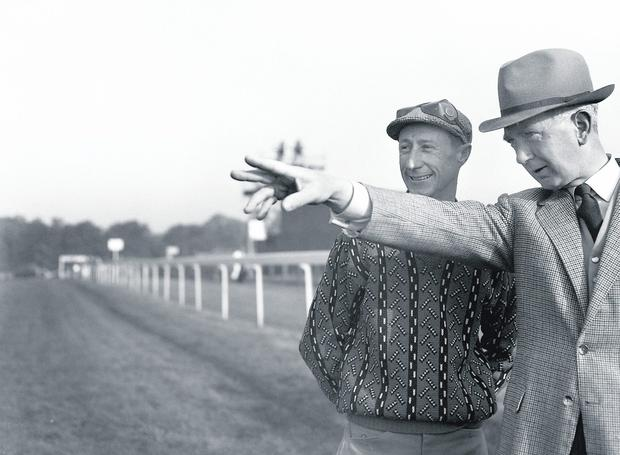 Jockey Pat Glennon & trainer Vincent O'Brien