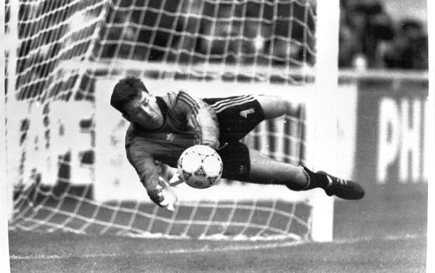 Packie Bonner with the save that launched a thousand parties