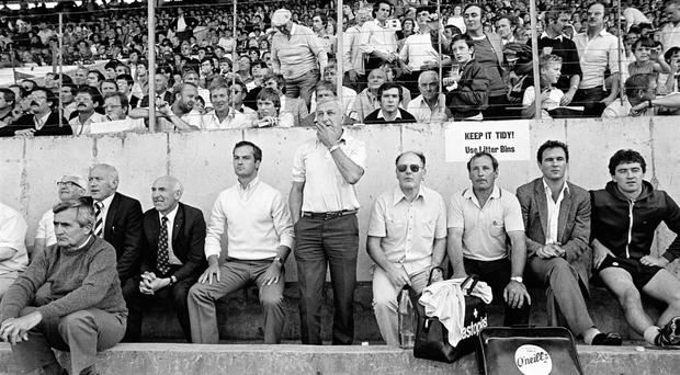 Kevin Heffernan, centre, was one of the first recognised managers in the GAA