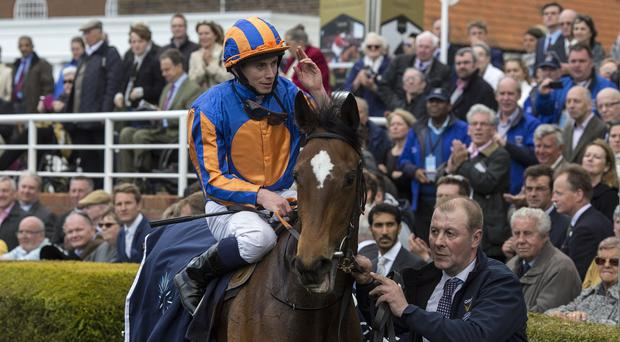 Ryan Moore returns after winning the Guineas on Legatissimo