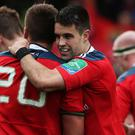 Conor Murray, centre, was in sparkling form for Munster