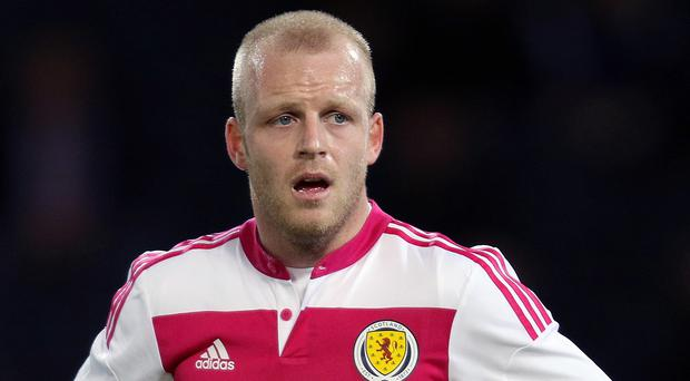 Scotland's Steven Naismith came through Friday night's win over Qatar with only a scratch