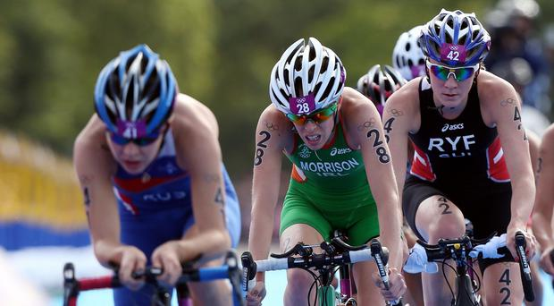 Aileen Reid, centre, is hoping to get Ireland off to a flying start at the European Games in Baku